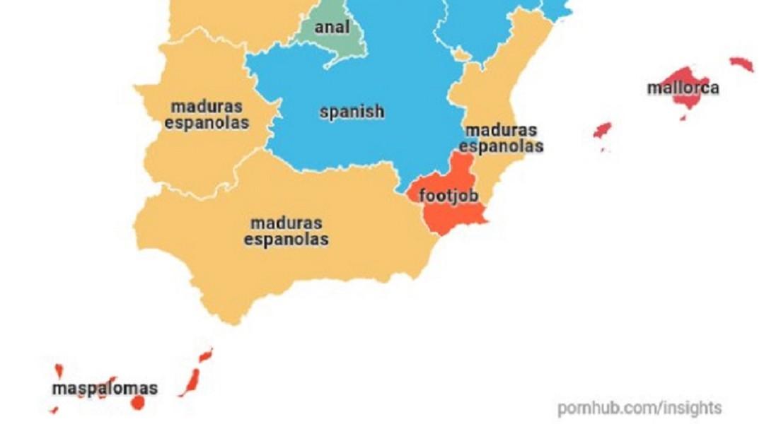 El porno en España: los murcianos preguntan en Pornhub por el 'footjob'