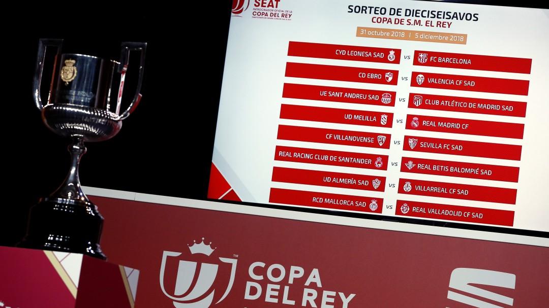 Octavos de final Copa del Rey: Real Madrid-Leganés, Levante-Barcelona y Girona-Atlético