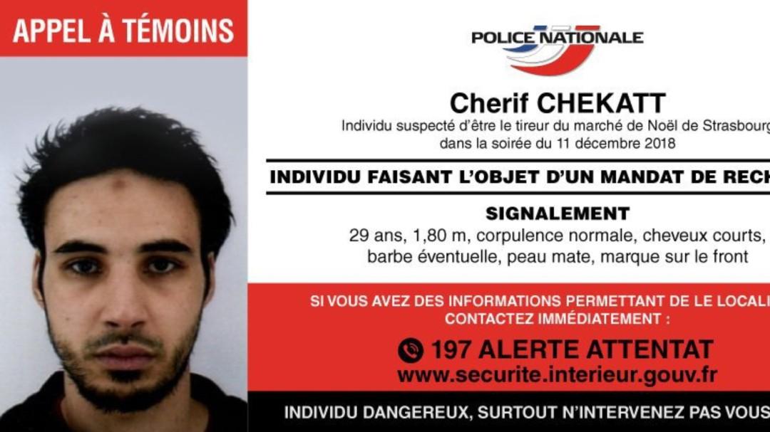 Abatido Cherif Chekatt, sospechoso del ataque con tres muertos en Estrasburgo